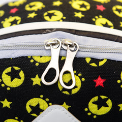 French Mustache and Stars Print Cute Canvas Backpack School Bag - Oh Yours Fashion - 7
