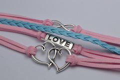 Double Heart Woven Retro Bracelet - Oh Yours Fashion - 3