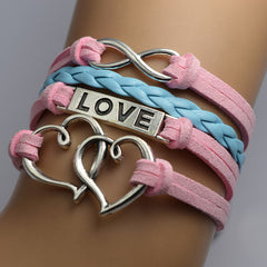 Double Heart Woven Retro Bracelet - Oh Yours Fashion - 1