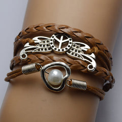 Peace Wing Multilayer Bracelet - Oh Yours Fashion - 1