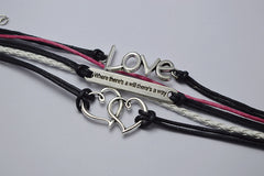 Double Heart LOVE Multilayer Bracelet - Oh Yours Fashion - 2