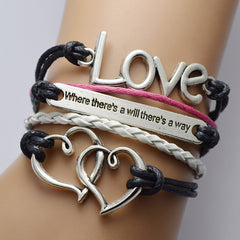 Double Heart LOVE Multilayer Bracelet - Oh Yours Fashion - 1