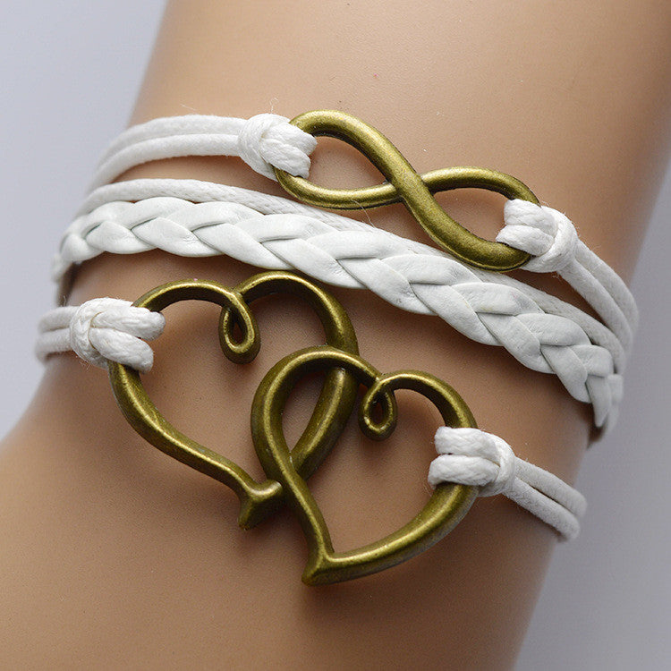 LOVE Multilayer Retro White Bracelet - Oh Yours Fashion