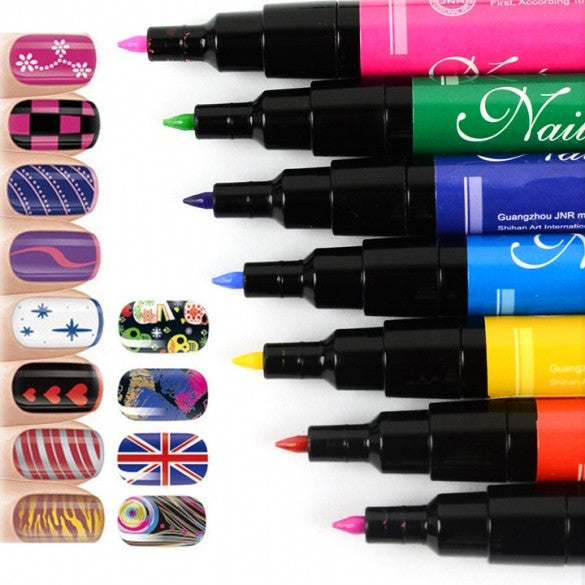 Nail Art Pen Painting Design Tool  for UV Gel Polish Made Easy 12 PCs/LOT ER99 - Oh Yours Fashion - 1