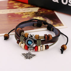Butterfly Handmade Woven Leather Bracelet - Oh Yours Fashion - 3
