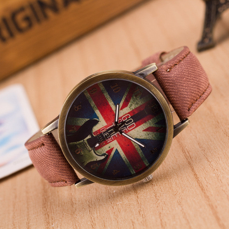 Denim Retro God Save Queen Watch - Oh Yours Fashion - 8