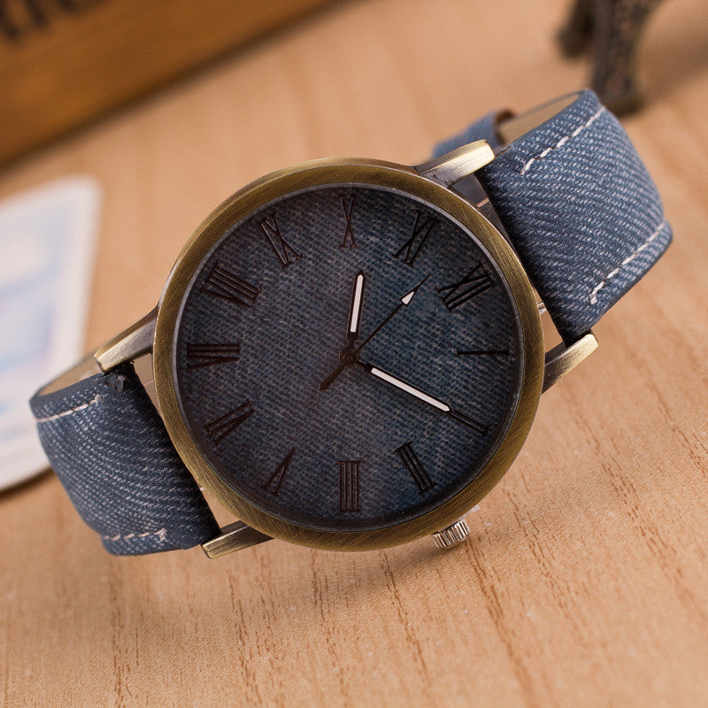 Classic Denim Strap Roman Number Watch - Oh Yours Fashion - 8