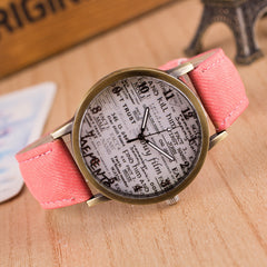 British Retro Denim Scrawl Watch - Oh Yours Fashion - 8