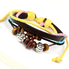 Colorful Beaded Leather Multilayer Bracelet - Oh Yours Fashion - 2