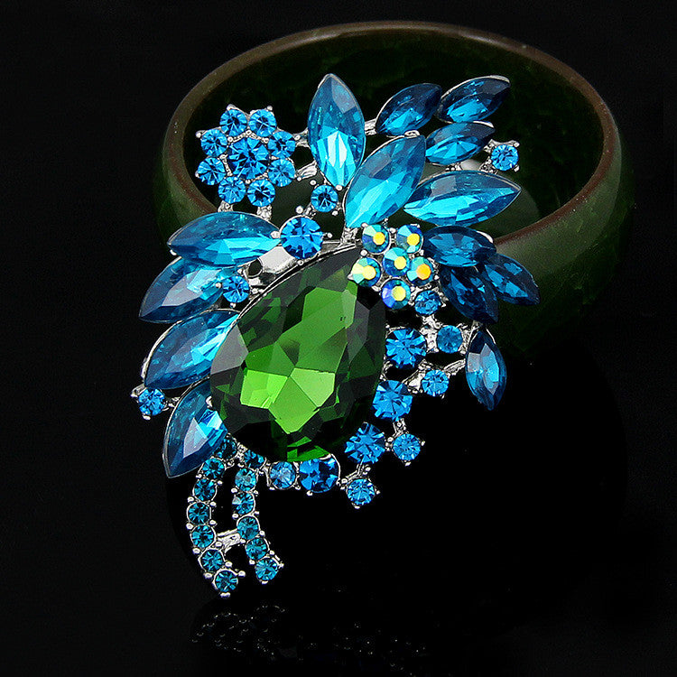 High-end Multi-color Diamond Brooch - Oh Yours Fashion - 5