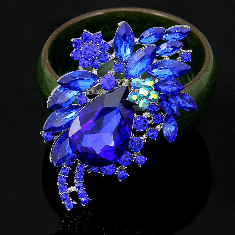 High-end Multi-color Diamond Brooch - Oh Yours Fashion - 2