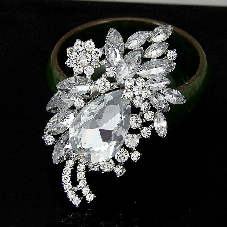 High-end Multi-color Diamond Brooch - Oh Yours Fashion - 4