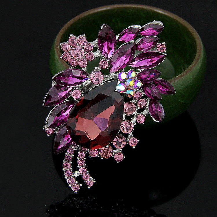 High-end Multi-color Diamond Brooch - Oh Yours Fashion - 3