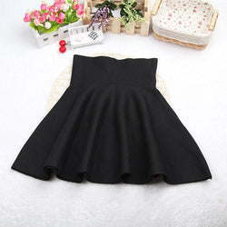 Fashion Knit Pleated Pure Color A-line Mini Skirt - Oh Yours Fashion - 2