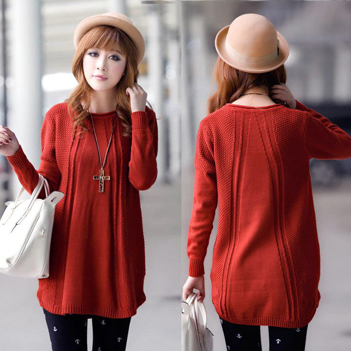 Women's Loose Knit Pullover Sweater - O Yours Fashion - 5