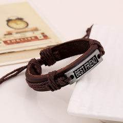 BESTFRIEND Woven Leather Bracelet - Oh Yours Fashion - 2