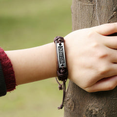 BESTFRIEND Woven Leather Bracelet - Oh Yours Fashion - 3