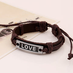 LOVE Couples Leather Bracelet - Oh Yours Fashion - 2