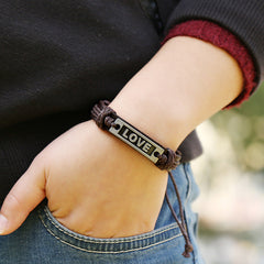 LOVE Couples Leather Bracelet - Oh Yours Fashion - 3