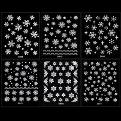Christmas Snowflakes Design 3D Nail Art Stickers Decals 6 Sheet - Oh Yours Fashion - 3