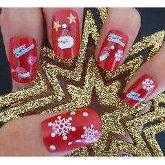 Christmas Snowflakes Design 3D Nail Art Stickers Decals 6 Sheet - Oh Yours Fashion - 1