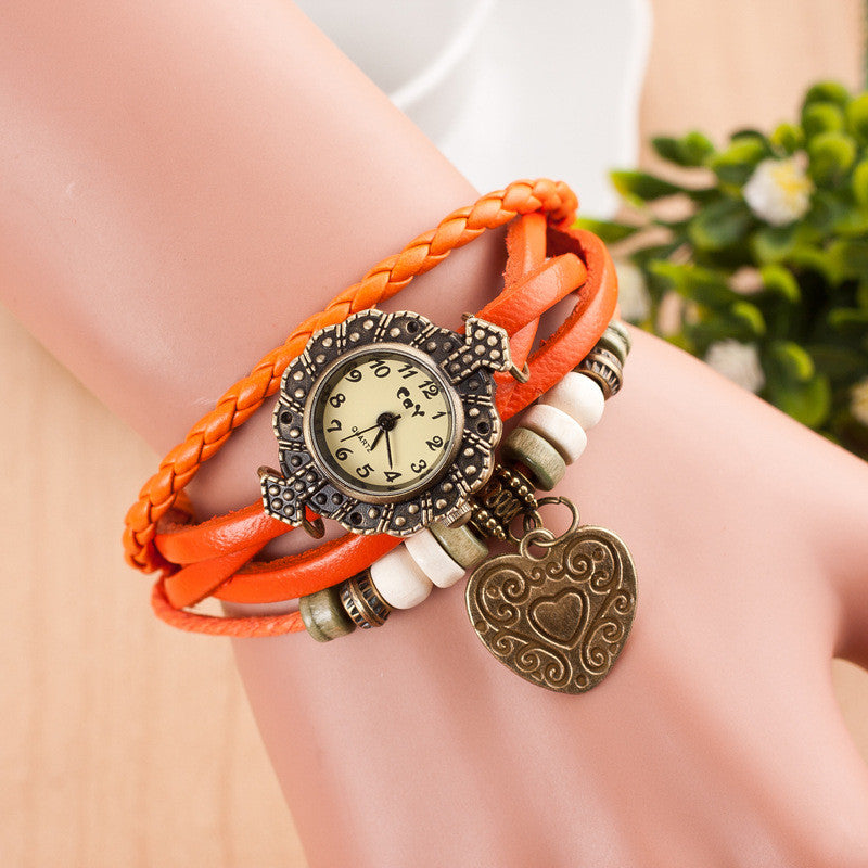 Retro Style Heart Double Arrow Watch - Oh Yours Fashion - 1