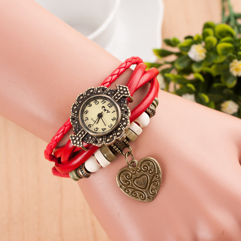 Retro Style Heart Double Arrow Watch - Oh Yours Fashion - 2