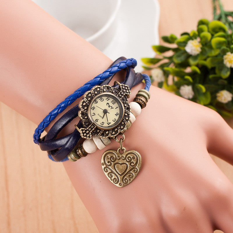 Retro Style Heart Double Arrow Watch - Oh Yours Fashion - 4