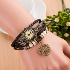 Retro Style Heart Double Arrow Watch - Oh Yours Fashion - 5