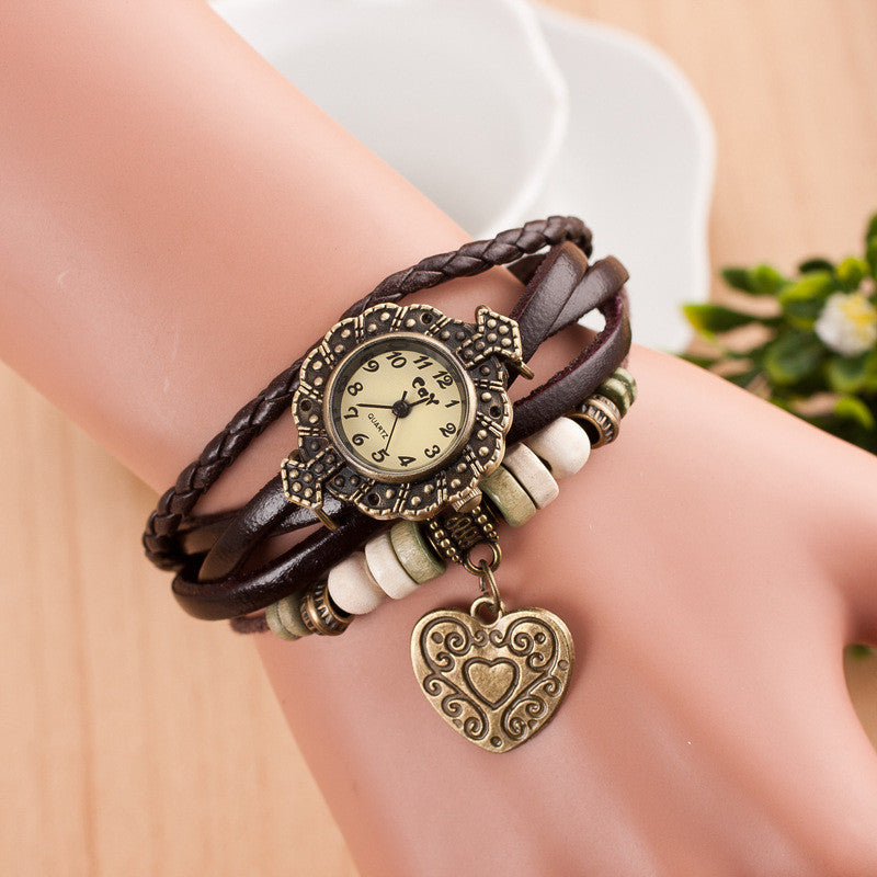 Retro Style Heart Double Arrow Watch - Oh Yours Fashion - 6