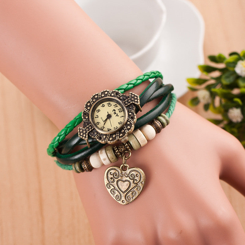 Retro Style Heart Double Arrow Watch - Oh Yours Fashion - 7