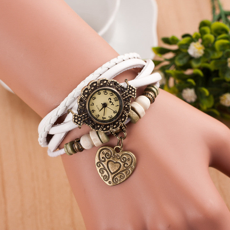 Retro Style Heart Double Arrow Watch - Oh Yours Fashion - 8