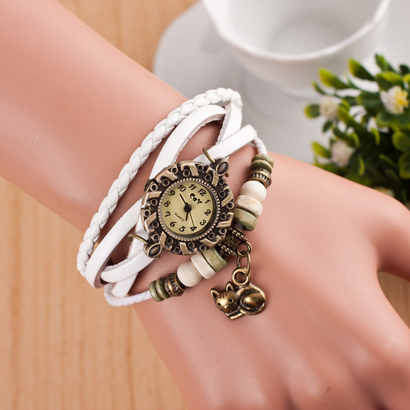Cute Cat Multilayer Bracelet Watch - Oh Yours Fashion - 1