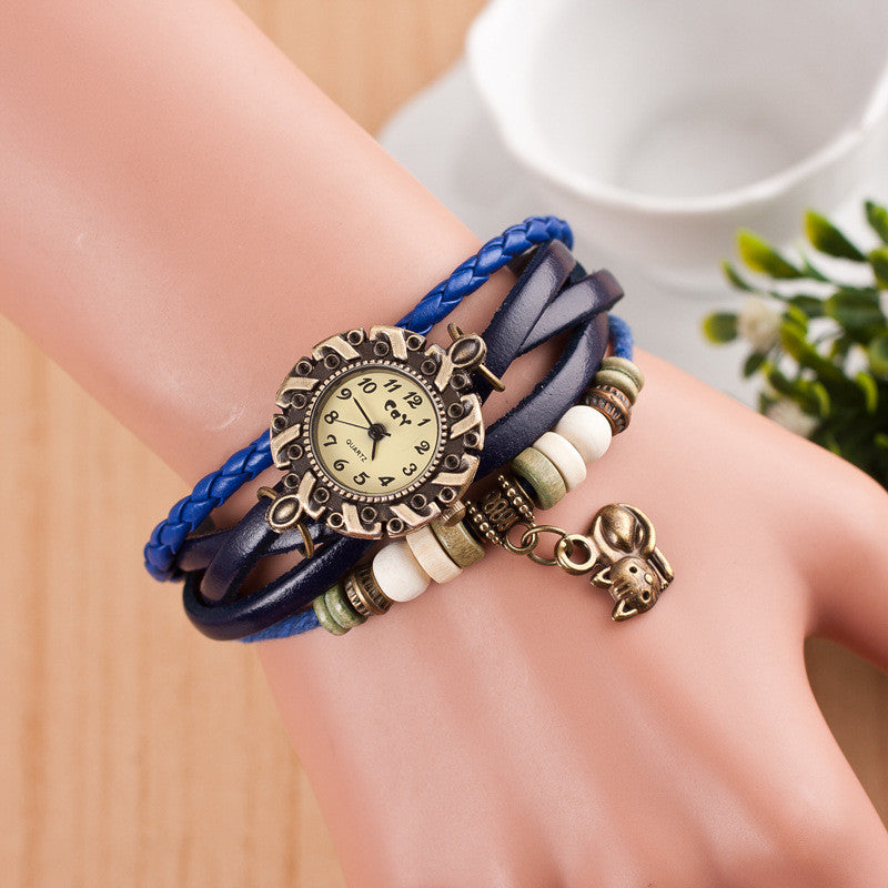 Cute Cat Multilayer Bracelet Watch - Oh Yours Fashion - 5