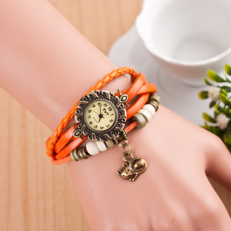 Cute Cat Multilayer Bracelet Watch - Oh Yours Fashion - 7