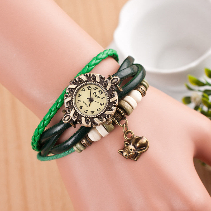 Cute Cat Multilayer Bracelet Watch - Oh Yours Fashion - 4