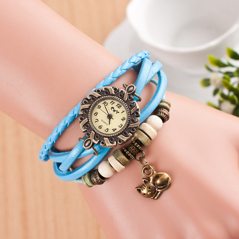 Cute Cat Multilayer Bracelet Watch - Oh Yours Fashion - 9