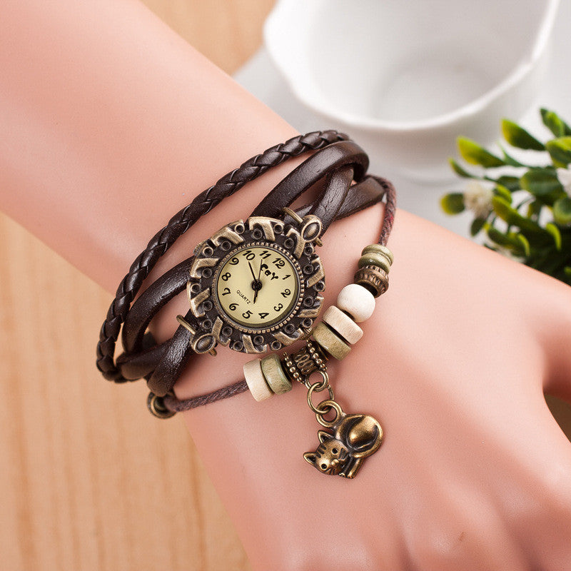 Cute Cat Multilayer Bracelet Watch - Oh Yours Fashion - 8