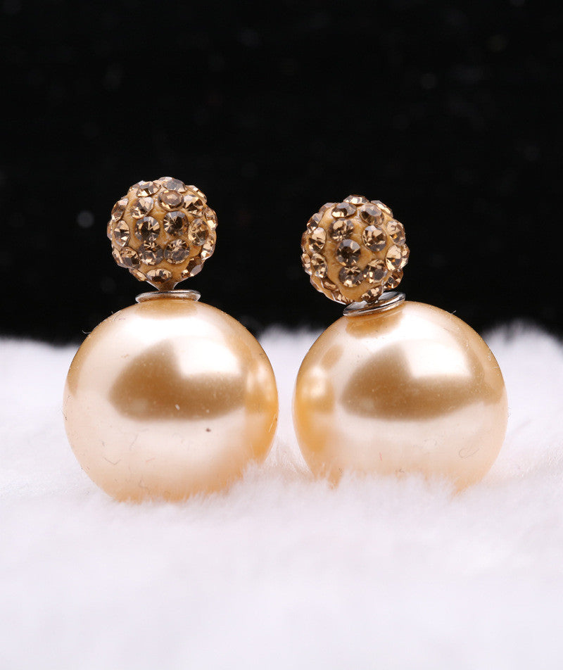 Charming Crystal Ball Pearl Earring - Oh Yours Fashion - 13