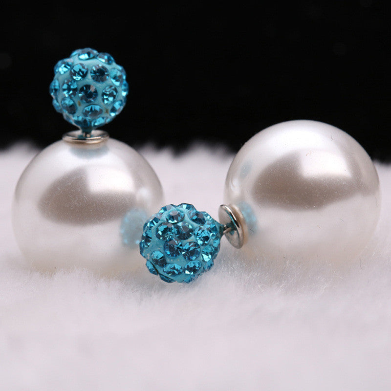 Charming Crystal Ball Pearl Earring - Oh Yours Fashion - 26