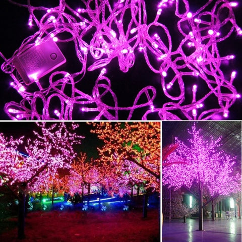 10M 100 LED Pink Lights Decorative Christmas Party Twinkle String 220V EU