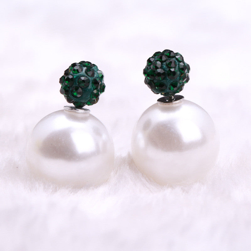 Charming Crystal Ball Pearl Earring - Oh Yours Fashion - 27