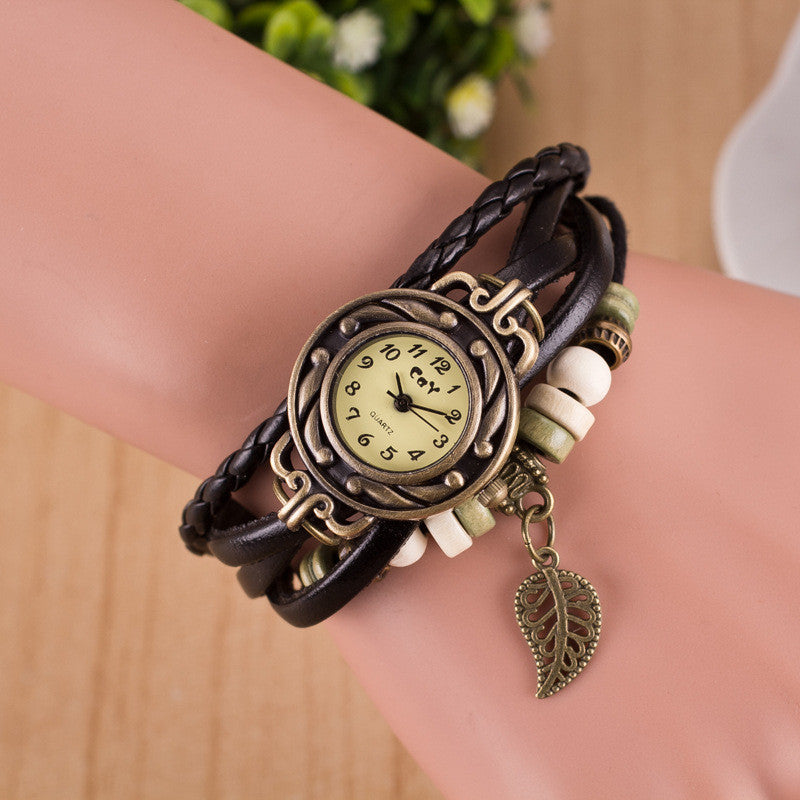 Hollow Out Leaf Multilayer Watch - Oh Yours Fashion - 6