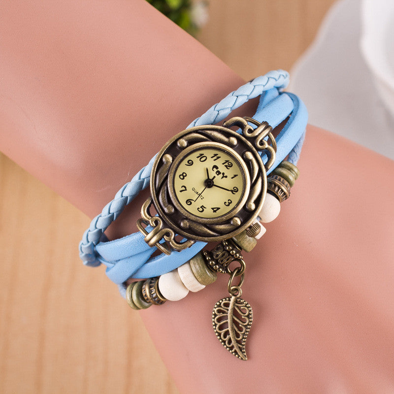 Hollow Out Leaf Multilayer Watch - Oh Yours Fashion - 10