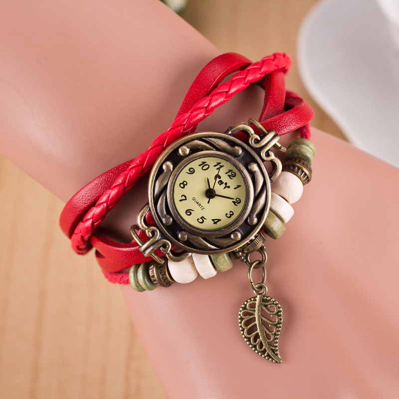 Hollow Out Leaf Multilayer Watch - Oh Yours Fashion - 2