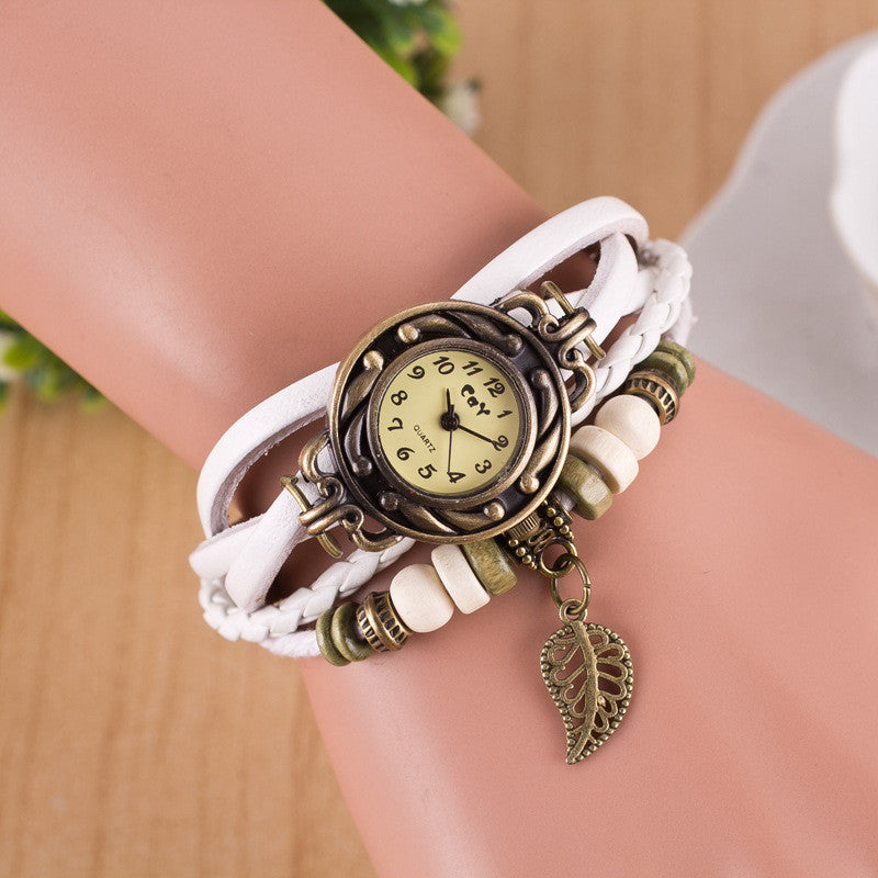 Hollow Out Leaf Multilayer Watch - Oh Yours Fashion - 1