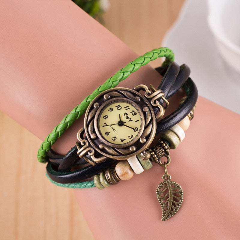Hollow Out Leaf Multilayer Watch - Oh Yours Fashion - 4
