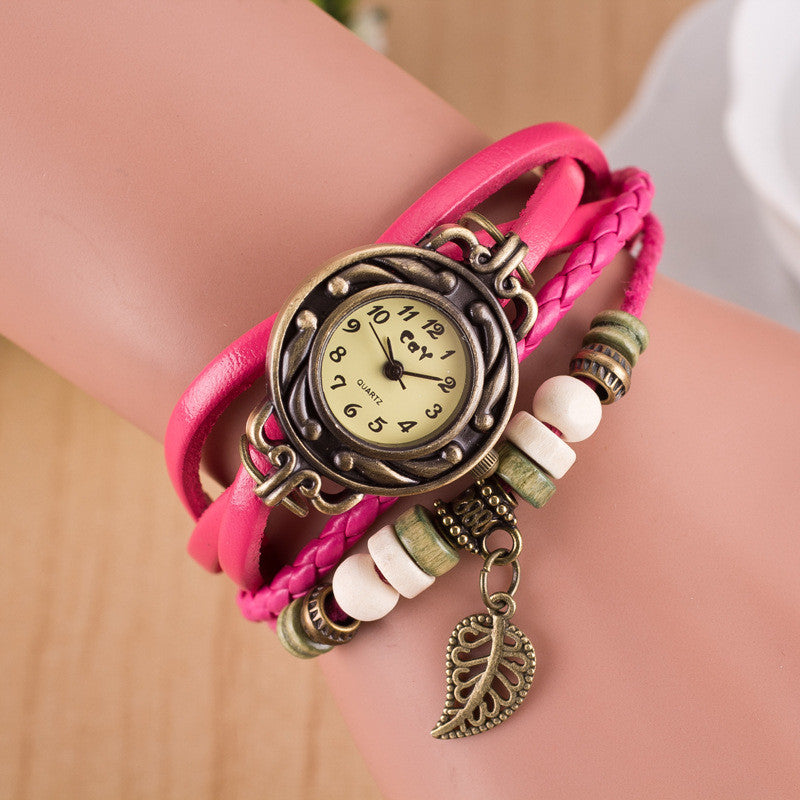 Hollow Out Leaf Multilayer Watch - Oh Yours Fashion - 9
