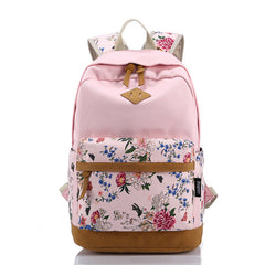 Floral Splicing Casual School Backpack Travel Bag - Oh Yours Fashion - 4