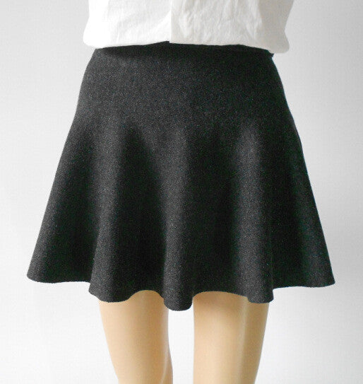 Fashion Knit Pleated Pure Color A-line Mini Skirt - Oh Yours Fashion - 3